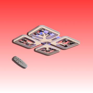 Люстра S8157/4CF LED 3color dimmer (Коричневый) 85W