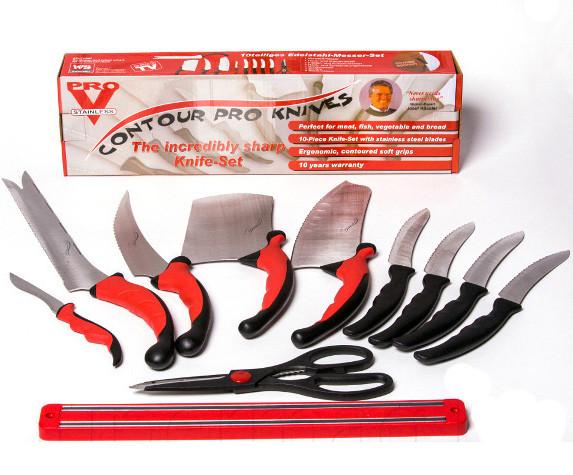 Набор ножей из нержавеющей стали с магнитным держателям 11 Предметов набор кухонных ножей