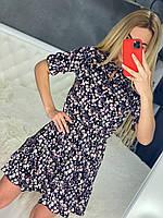 Женское летнеее платье цветочный принт
