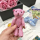 Подарочный набор мыла из роз  + игрушка  (Розовый), фото 2