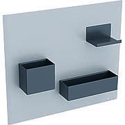 500.649.JL.2 Geberit Магнитная доска с боксами для хранения: магнитная доска: песочно-серый матовый, боксы для