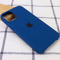 Силиконовый чехол накладка Silicone Case (high copy) iPhone 12 Mini Синий