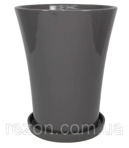 """Горшок керамический для цветов """"Дзвіночок"""" 1.2л Rezon P131"""