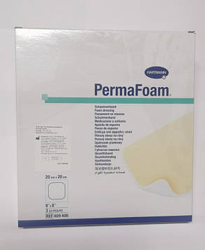 Повязка губчатая абсорбирующая PermaFoam® 20см х 20см