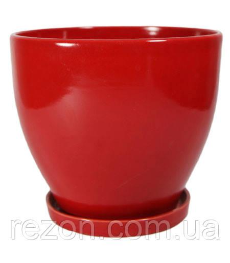 """Вазон керамический для цветов """"Конус"""" 1.3л Rezon P032"""
