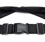 Сумка-чохол на пояс для бігу 2 кишені Чорна, фото 5
