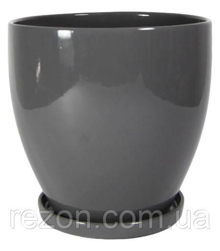 """Вазон керамический для цветов """"Конус"""" 2.5л Rezon P005н"""