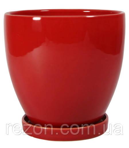 """Горшок керамический для цветов """"Конус"""" 5л Rezon"""