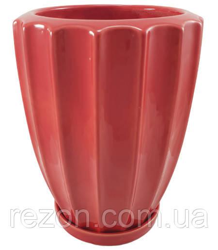 """Вазон  керамический для цветов """"Косарик"""" 1.65л Rezon P279"""