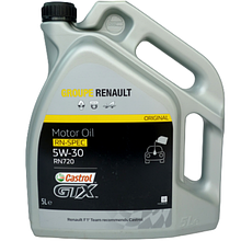 Моторное масло Renault (Castrol) GTX RN-SPEC 5W-30 RN720 5liter