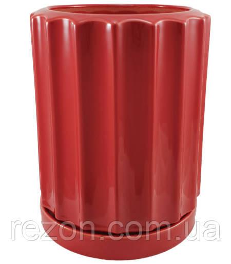 """Вазон керамический для цветов """"Шафран"""" 3.8л Rezon Р284"""