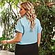 Жіноча літня сорочка на зав'язках, фото 2