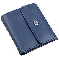 Компактный женский бумажник на кнопке ST Leather 18921 Синий, фото 1
