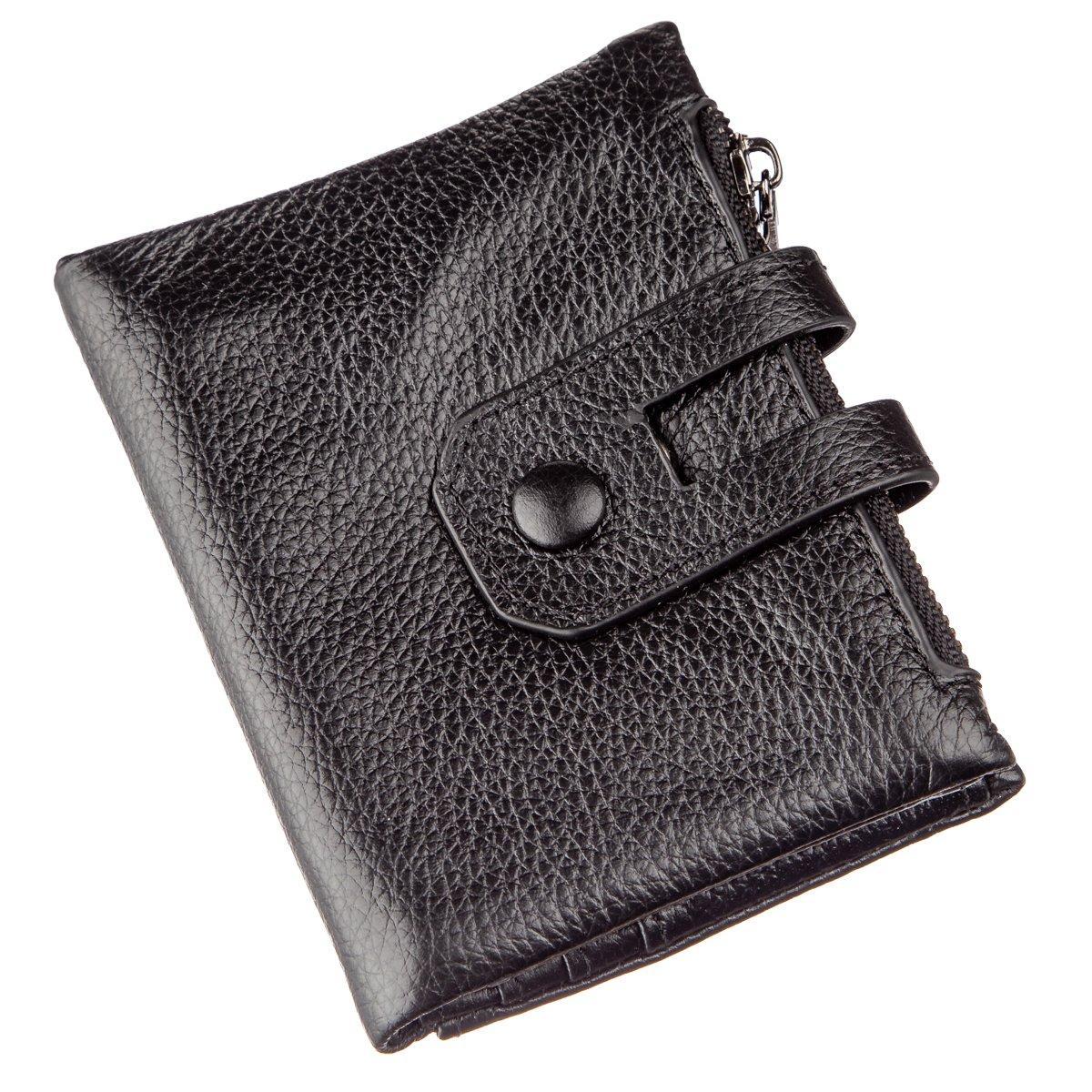 Кошелек Vintage 14644 кожаный Черный