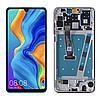 Дисплей (екран) для Huawei P30 Lite/Nova 4e, версія 6/128GB, 48 MP + тачскрін, чорний, з передньою панеллю