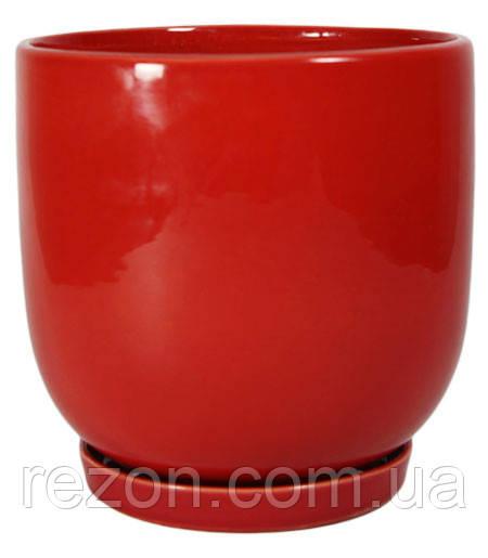 """Горшок керамический для цветов """"Конусний опуклий"""" 2.7л Rezon Р234"""