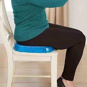 Подушка ортопедическая на стул Egg Sitter силиконовая с эффектом памяти с чехлом в комплекте