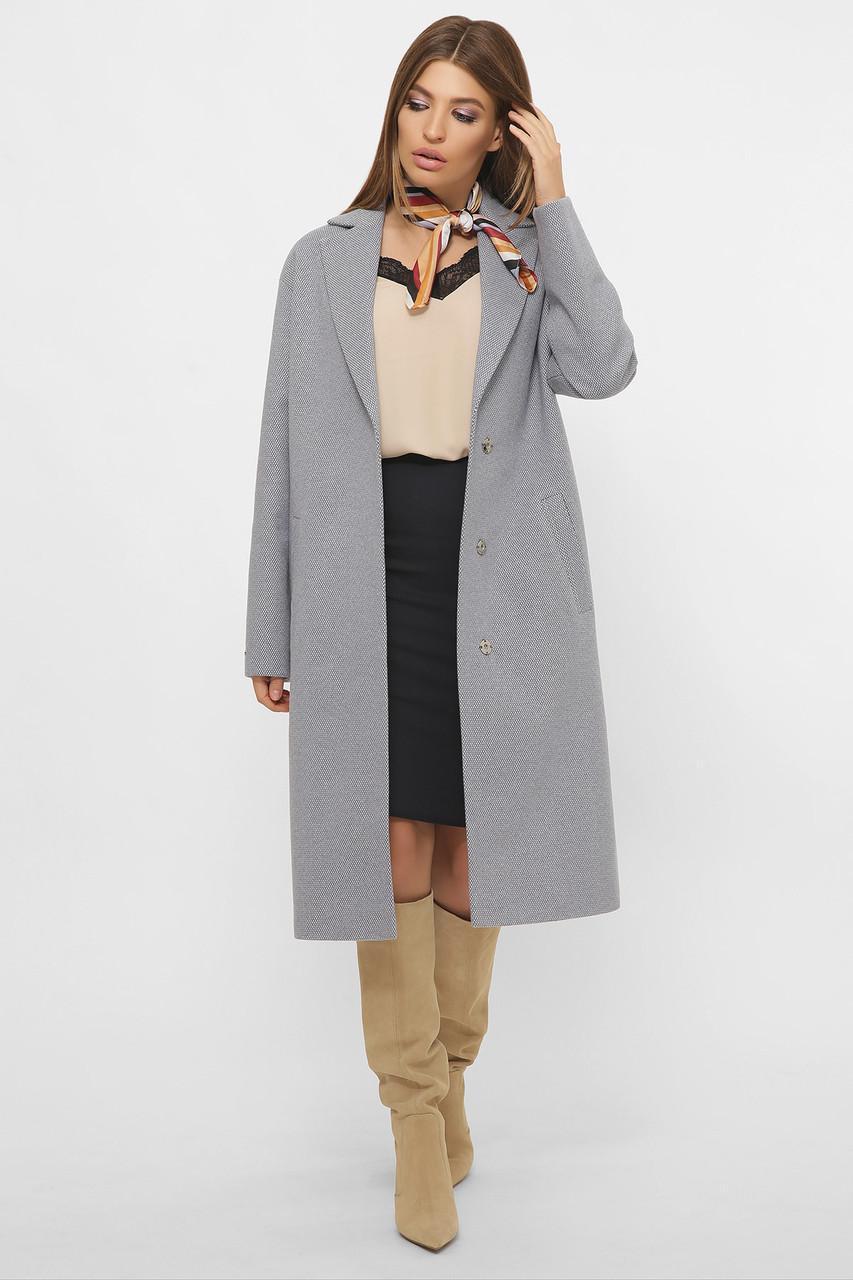 Жіноче демісезонне пальто сіре MS-267