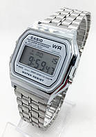 Мужские наручные электронные часы CASIO (Касио), серебристые ( код: IBW166S )