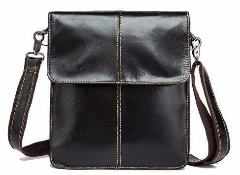 Мужская сумка- мессенджер кожаная Vintage 14803 Коричневая