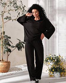 Костюм тройка кофта+шорты+брюки Черный,  Модный женский спортивный костюм тройка
