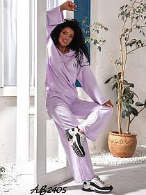 Костюм тройка кофта+шорты+брюки Лиловый,  Модный женский спортивный костюм тройка
