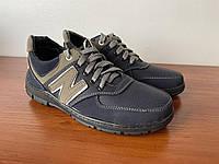 Туфлі чоловічі підліткові спортивні сині прошиті зручні ( код 7601 )