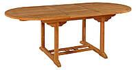 Тиковый стол раскладной овальный TE-150T, фото 1