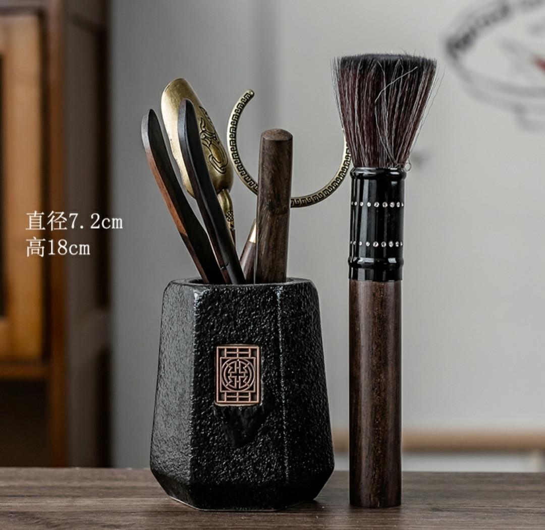 Набор инструментов для чайной церемонии Черный камень 6 предметов аксессуары для заваривания чая