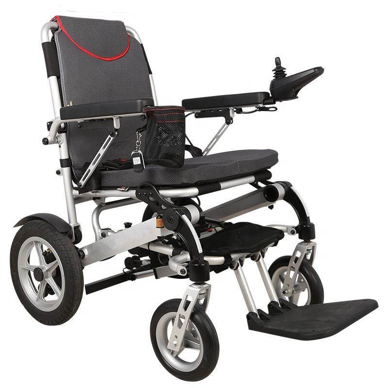 Надлегкий електричний візок для інвалідів MIRID D6034. Складається з допомогою пульта.