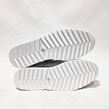 Туфлі жіночі літні з натуральної шкіри білі на шнурках, фото 7