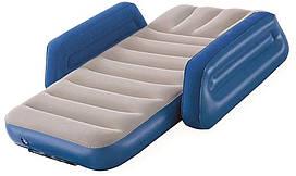 Кровать надувная детская Bestway 67602, серо-синяя