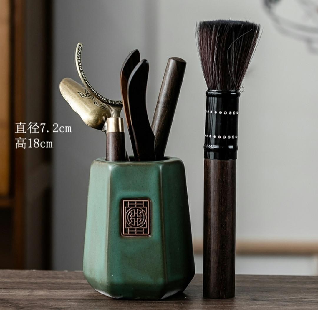 Набір інструментів для чайної церемонії Бірюза 6 предметів аксесуари для заварювання чаю