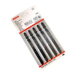 5x пилка, полотно для электролобзика по дереву, T127D, HCS-сталь