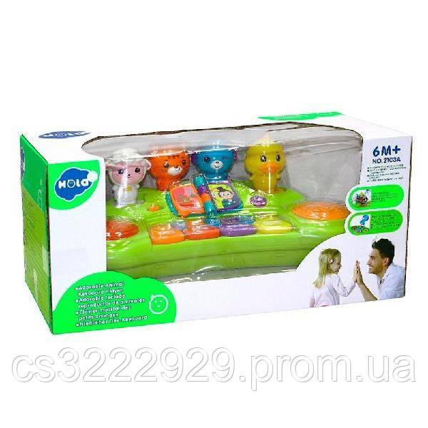 Музыкальная развивающая игрушка Hola Toys Пианино со зверушками (2103A)