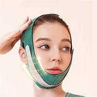 Маска-бандаж для корекції овалу обличчя і другого підборіддя відновлююча маска