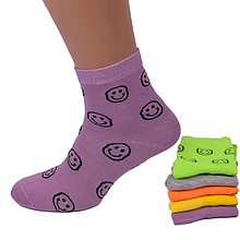 Шкарпетки жіночі смайлики кольору в ассорт. 37-42 р.