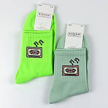 Шкарпетки жіночі з принтом music кольору в ассорт. 37-42 р.