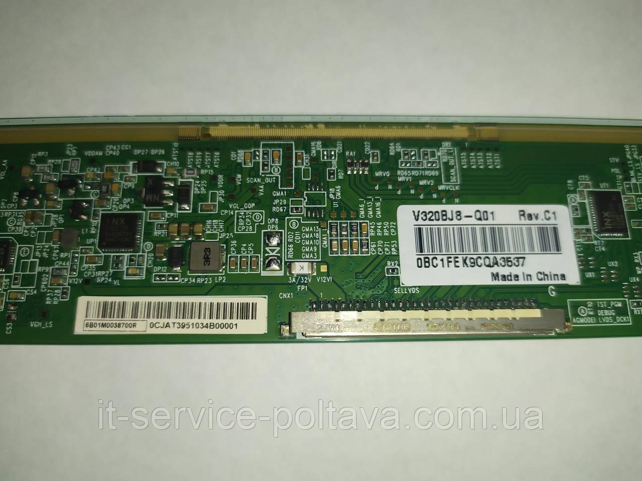Плата (T-con) V320BJ8-Q01 REV.C1 (0BC1FEK9CQA3537) для телевізора METZ