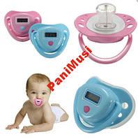 Соска пустышка с градусник LCD детский термометр дисплей