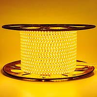 Лента светодиодная желтая 220V AVT smd2835 120лед 4Вт герметичная 1м, фото 1