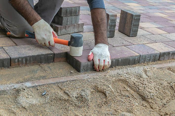 Укладка тротуарной плитки под ключ в Божедаровке, мощение дорожек, благоустройство, брусчатки, фото, фото 2