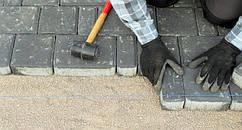 Укладка тротуарной плитки под ключ в Малософиевка, мощение дорожек, благоустройство, брусчатки, фото