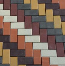 Бетонная тротуарная плитка вибропрессованная, изготовление, доставка, брущатка
