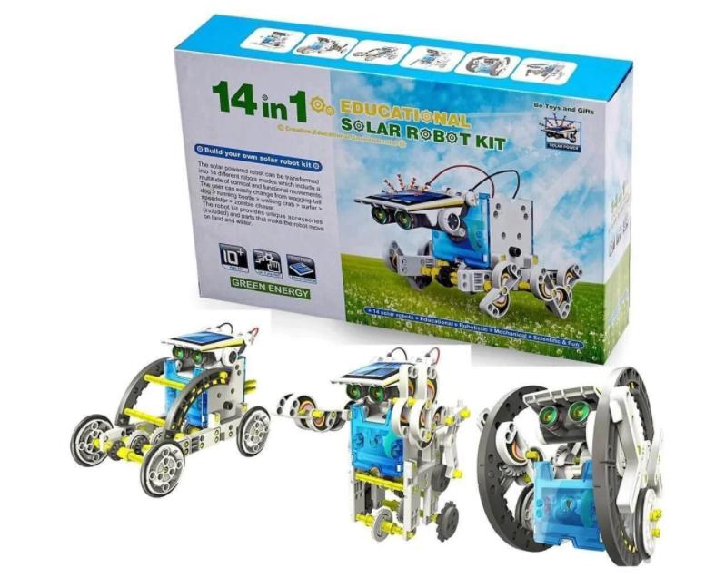 Конструктор робот на сонячних батареях Solar Robot 14 в 1 Дитячі конструктори