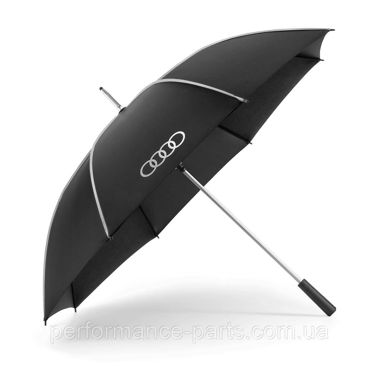 Большой зонт-трость Audi Stick Umbrella, black/silver, артикул 3122000100 Официальная коллекция Audi
