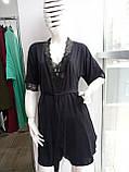 Комплект халат, сорочка чорного кольору, фото 2