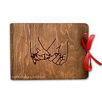Деревянный фотоальбом с картонными листами | креативный подарок любимым, друзьям, близким