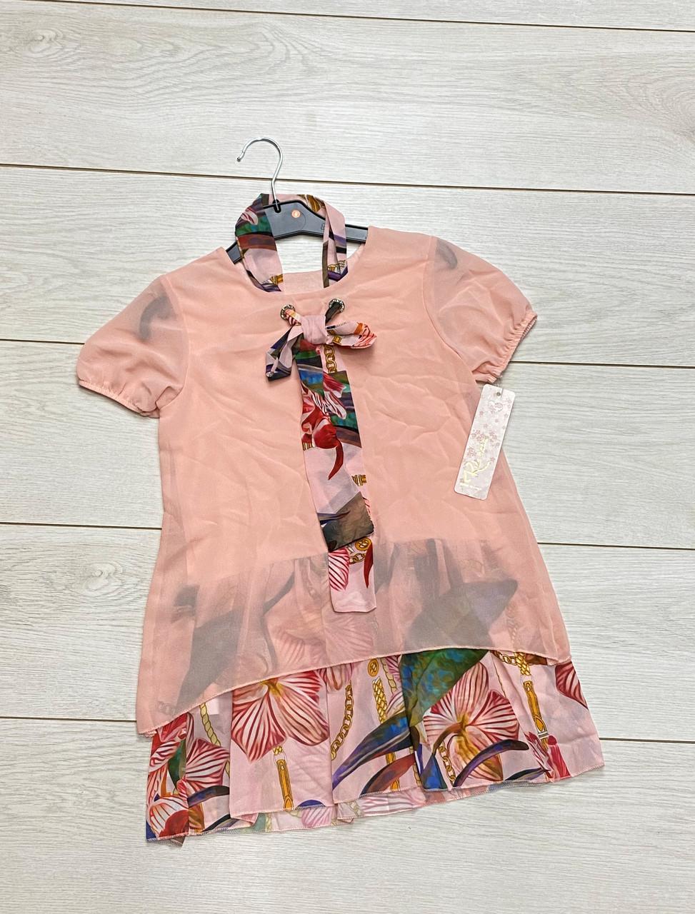 Шифонова сукня для дівчаток. 4 і 12 років.