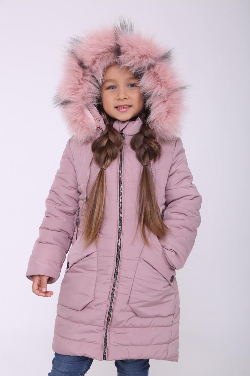 Пальто для девочки зимнее от производителя 32-40 Пудра